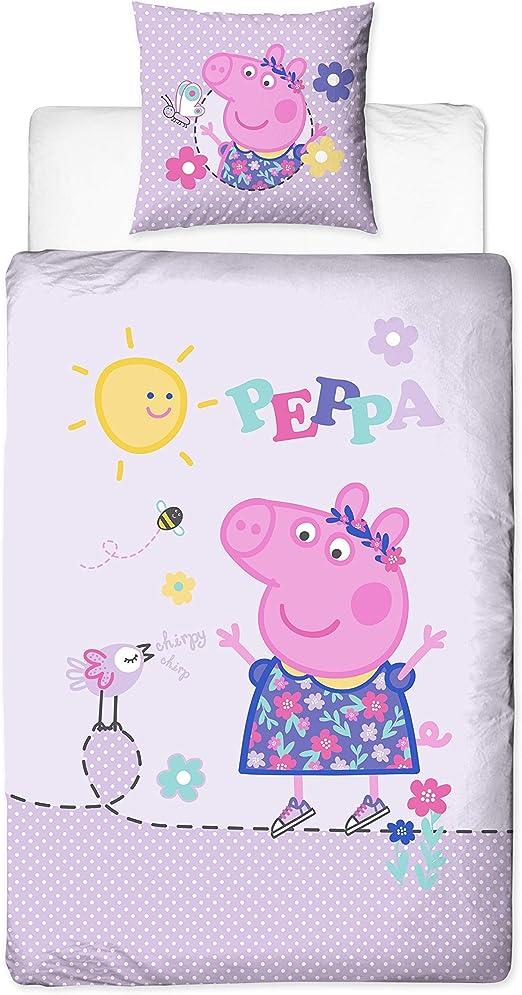 Peppa Pig Peppa Pig franela niña cama reversible Diseño cálido y ...