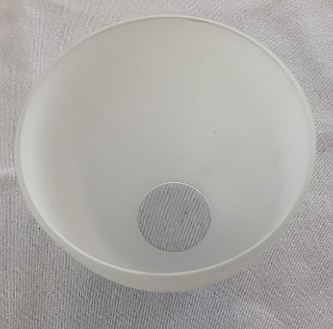 3er Set Ersatzlampenschirme aus Milchglas in einem runden und kegeligen Design