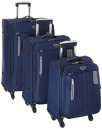 Amazon.com   Bugatti 3 Piece Soft Luggage Set, Navy, One Size ...