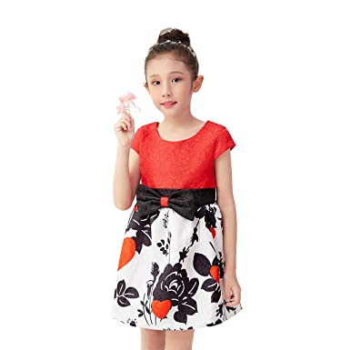 4d5b15ecb90 Girls Sundress Size 3 Children s Clothes Girls Kids Wedding Dress Dresses  with Bows Girls Dress Size