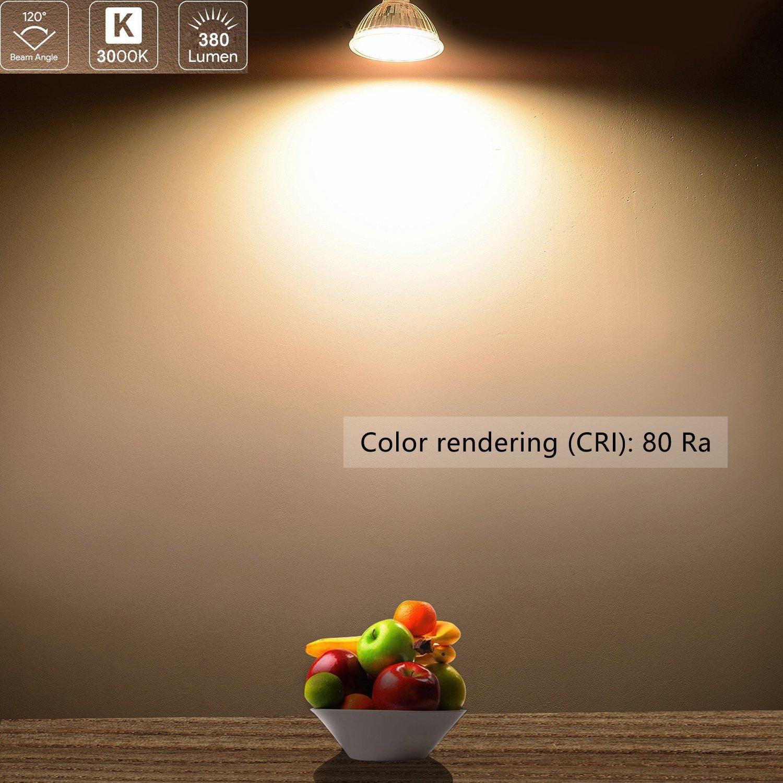 9 SMD GU10 Strahler 5W Tageslichtweiß 380 Lumen Schutzglas ersetzt 35W Halogen