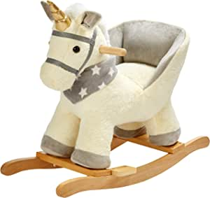 color rosa columpio ROCK MY BABY Caballo balanc/ín infantil de madera unicornio juguete para beb/és y ni/ños peque/ños a partir de 18 meses peluche