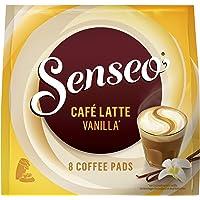 SENSEO Koffiepads Café Latte Vanilla (32 Pads, Vanilla Latte Pads voor SENSEO Koffiepadmachines, Latte Koffie met…