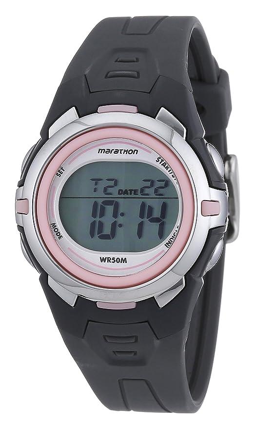 7e959d657851 Timex Timex Marathon - Reloj digital de mujer de cuarzo con correa de goma  gris (luz
