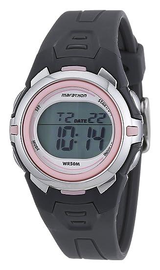 d2869d9cb16b Timex Timex Marathon - Reloj digital de mujer de cuarzo con correa de goma  gris (