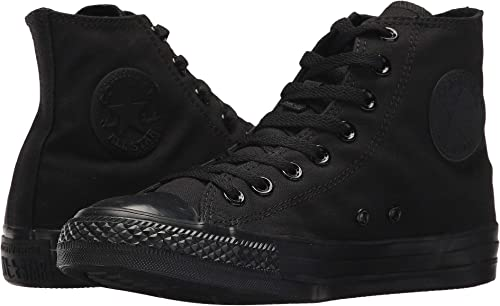 M3310 Converse MEN/'S CHUCK TAYLOR ALL STAR HI BLACK MONOCHROME CANVAS