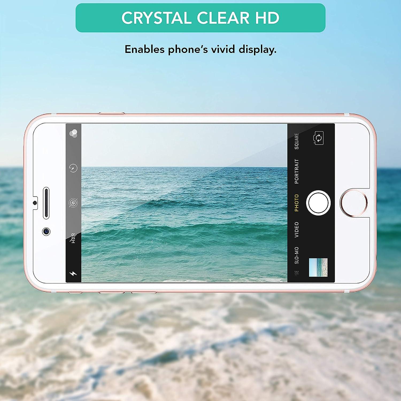 Lot de 4 Film de Protection d/écran pour iPhone 7 iSOUL Protection /écran sans Bulles dair 9H Ultra HD Glass Anti Rayures iPhone 8 et iPhone SE 2020 en Verre Tremp/é