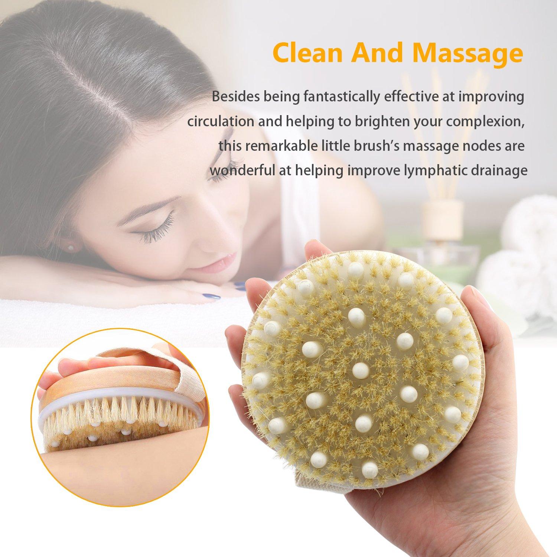 IBEET Natural Bristles Scrubber Massager Image 3