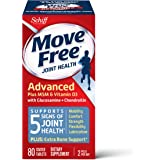 Move Free Advanced Glucosamine Chondroitin MSM Vitamin D3 and Hyaluronic Acid Joint Supplement, 80 count (pack of 1) (11878)