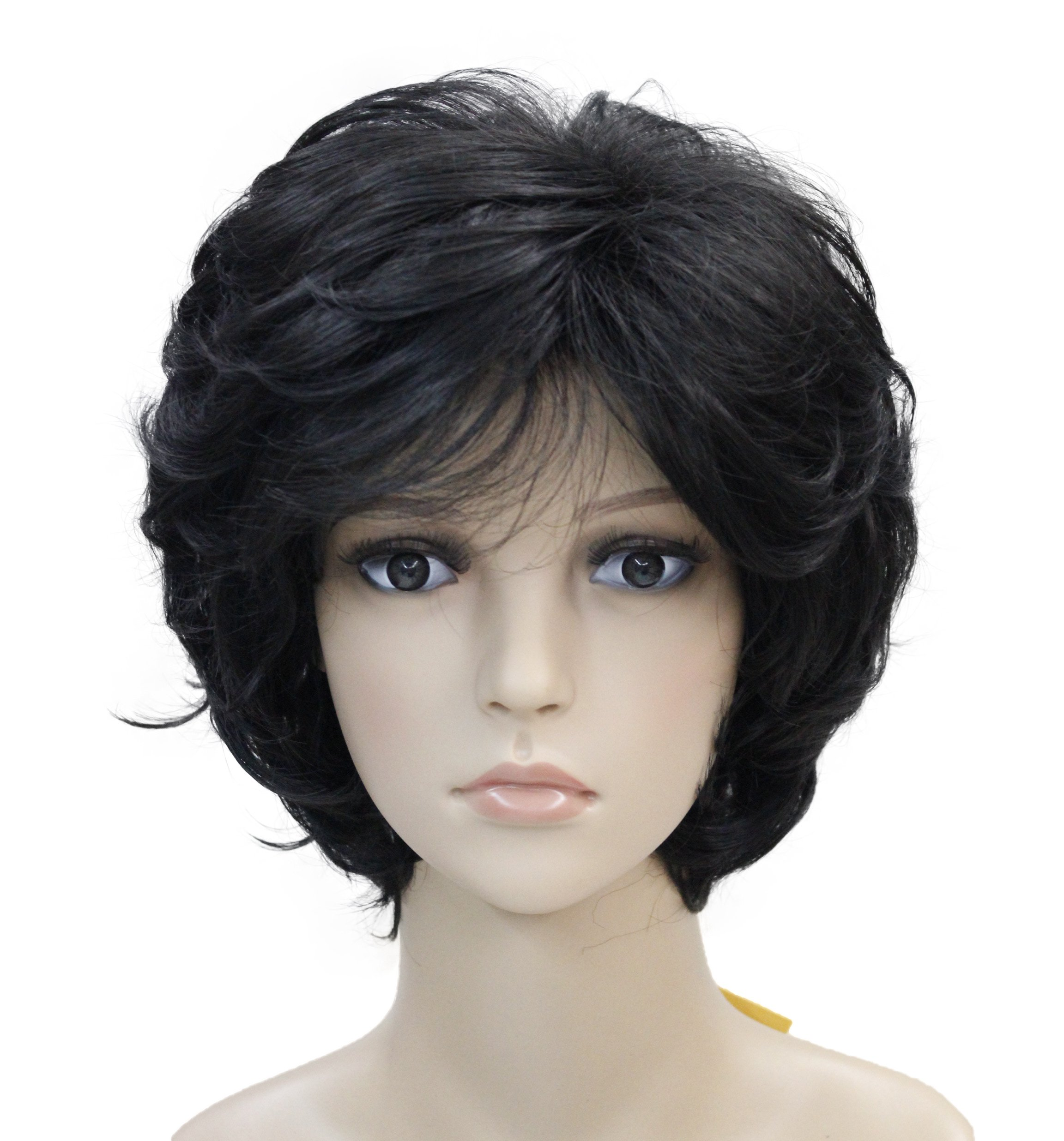 Amazon Com Lydell Women S Short Curly Wavy Wig Synthetic Hair Full
