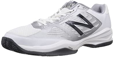 New Balance Men's MC896 Lightweight Tennis Shoe, White/Blue, ...