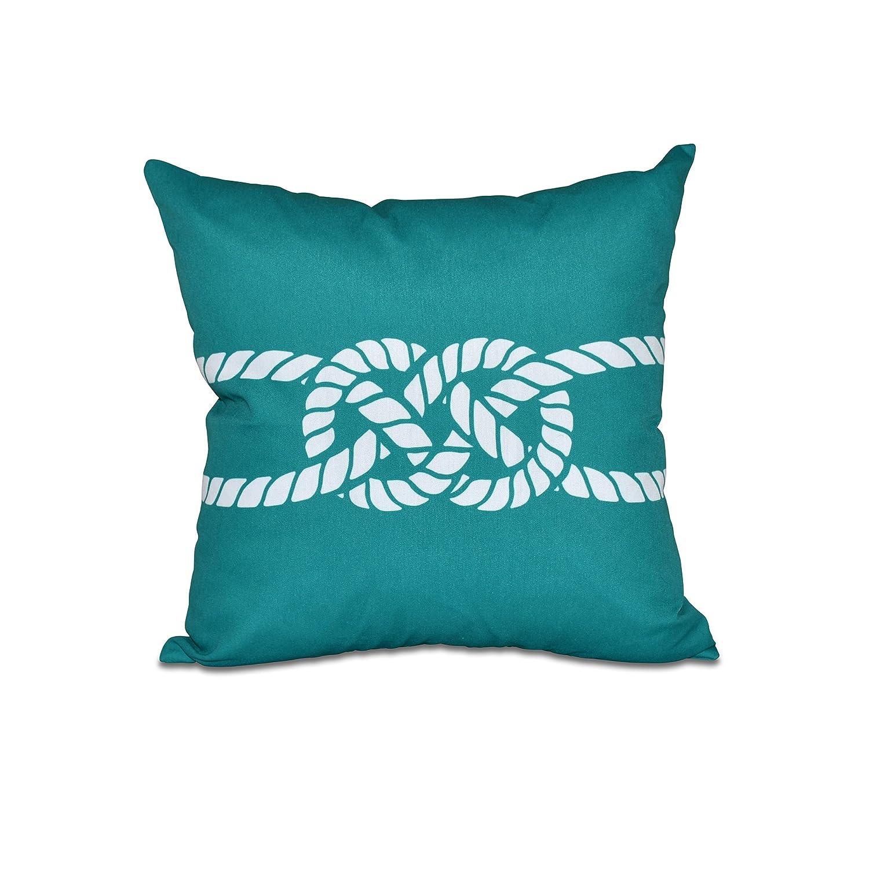 E by design PGN406GR27-26 26 x 26 Carrick Bend, Geometric Pillow Green