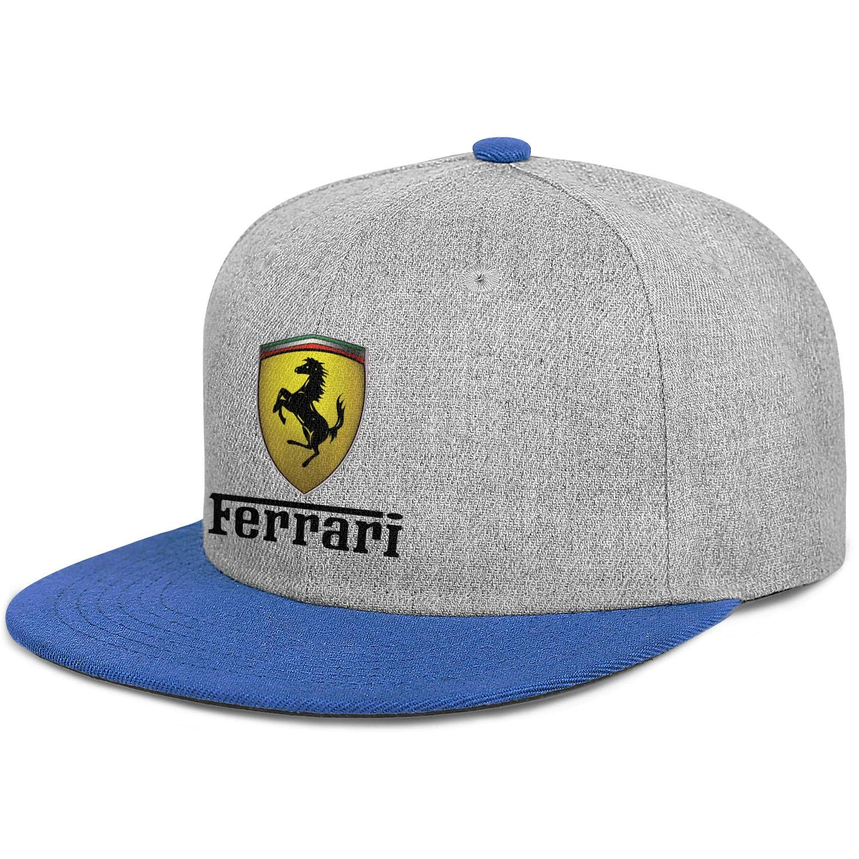 Man Mens Ferrari-Logo Baseball Cap Popular Hip Hop Caps Sport Hat Lovely Snapback Hat Mens Trucker Hats