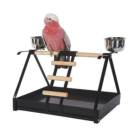 Kookaburra Cages Atril para Loros con comederos, Color ...
