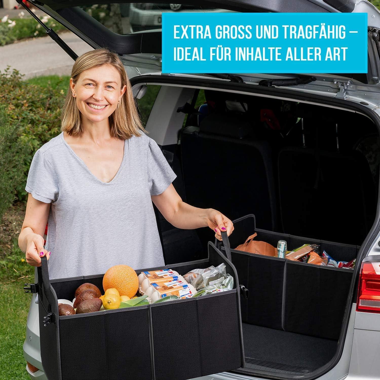 Kewago Auto Organizer Und Faltbox Auto Stabile Tasche Für Die Auto Aufbewahrung Eine Praktische Kiste Auto Box U Kofferraum Organizer Für Alle Fälle Car Trunk Organizer Auto Autobox Ordnungssystem Auto