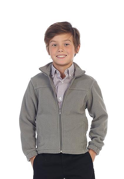 271365dd Amazon.com: Gioberti Boys Full Zip Polar Fleece Jacket, Gray, 10 ...