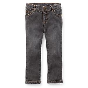 Carter's Little Girls' Skinny Fit Jeans Grey Wash (Kids, Grey