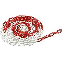 Meister 4520050 Afsluitketting, 5 m, rood/wit
