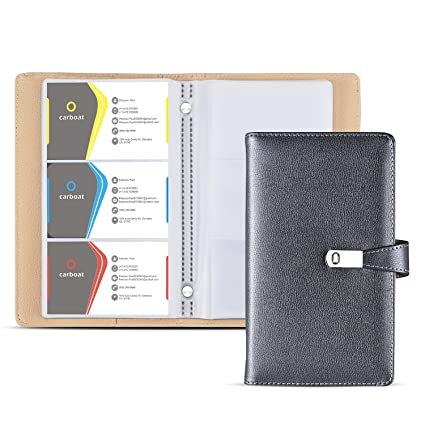 Amazon business card holder book ahgxg business card holder business card holder book ahgxg business card holder case pu leather with magnets organization binder colourmoves