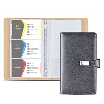 Amazon business card holder book ahgxg business card book business card holder book ahgxg business card book case pu leather with magnets organization binder colourmoves Choice Image