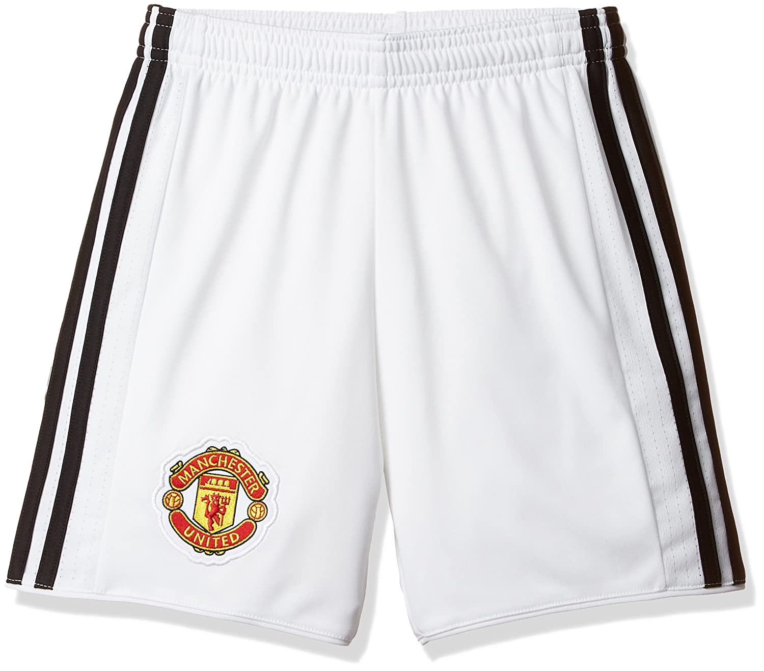 adidas Children's Replica Manchester United Home Football Shorts, Children's, AZ7579, white/black Children' s
