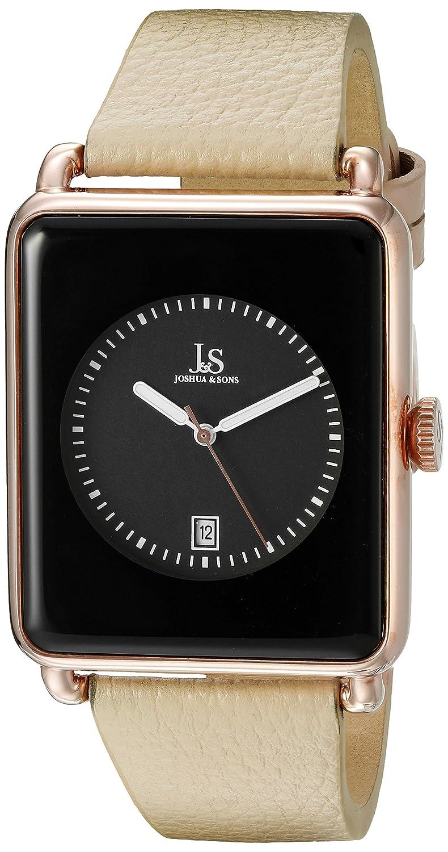 c8dd44589d0 Amazon.com  Joshua   Sons Men s JS95RGTN Rose Gold Quartz Watch with Black  Dial and Tan Leather Strap  Watches