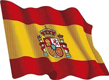Artimagen Pegatina Bandera Ondeante España 80x60 mm ...