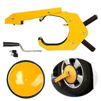 Cepo antirrobo TMS para rueda de coche, camión, barco remolque.: Amazon.es: Coche y moto
