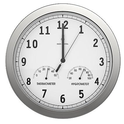 bonVIVO TIMERIDER Reloj De Pared Controlado por Radio, Alta Precisión, Reloj De Pared Silencioso