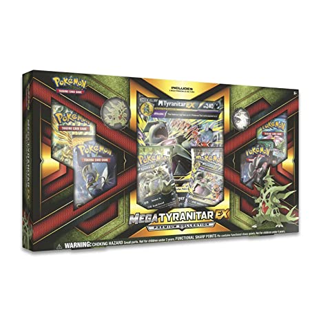 3ac209fb38d4 Amazon.com  Pokemon TCG  Mega Tyranitar EX Premium Collection Box  Toys    Games