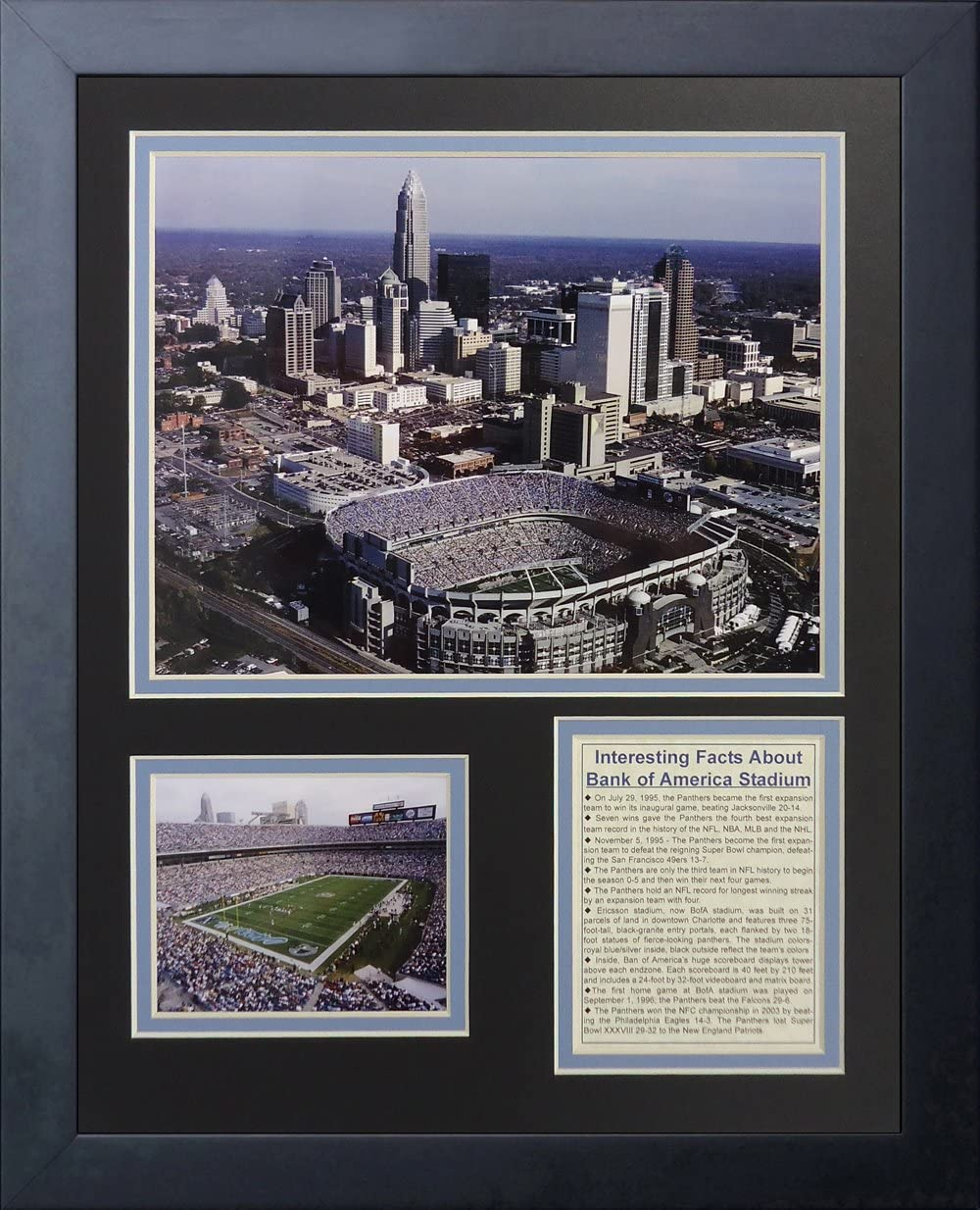 "Legends Never Die ""Carolina Panthers Stadium Framed Photo Collage, 11 x 14-Inch"