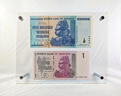Amazon.com : Zimbabwe 1 and 100 Trillion Dollar Currency Notes World ...