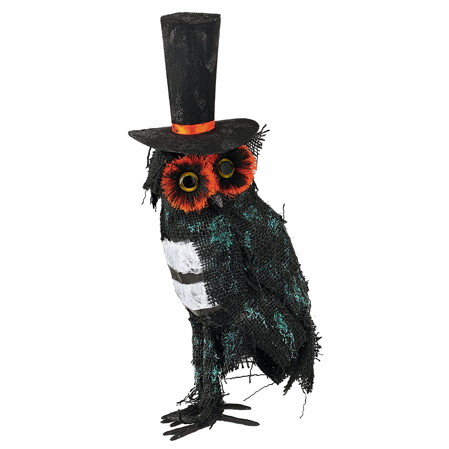 Grasslands Road Midnight Owl with Top Hat Figurine, 16-Inch, 2-Pack