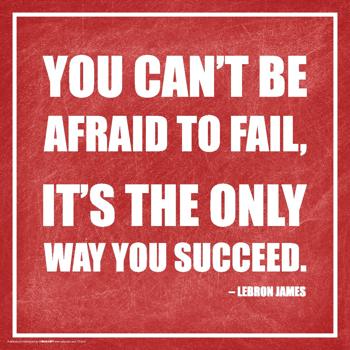 You can't be afraid to fail