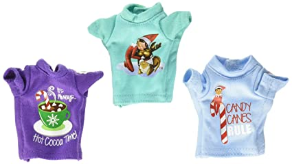 324cfd4c2 Amazon.com: Elf on the Shelf Claus Couture Sweet Tees Multipack ...