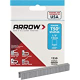 Arrow Fastener 508 Genuine T50 1/2-Inch Staples, 1,250-Pack