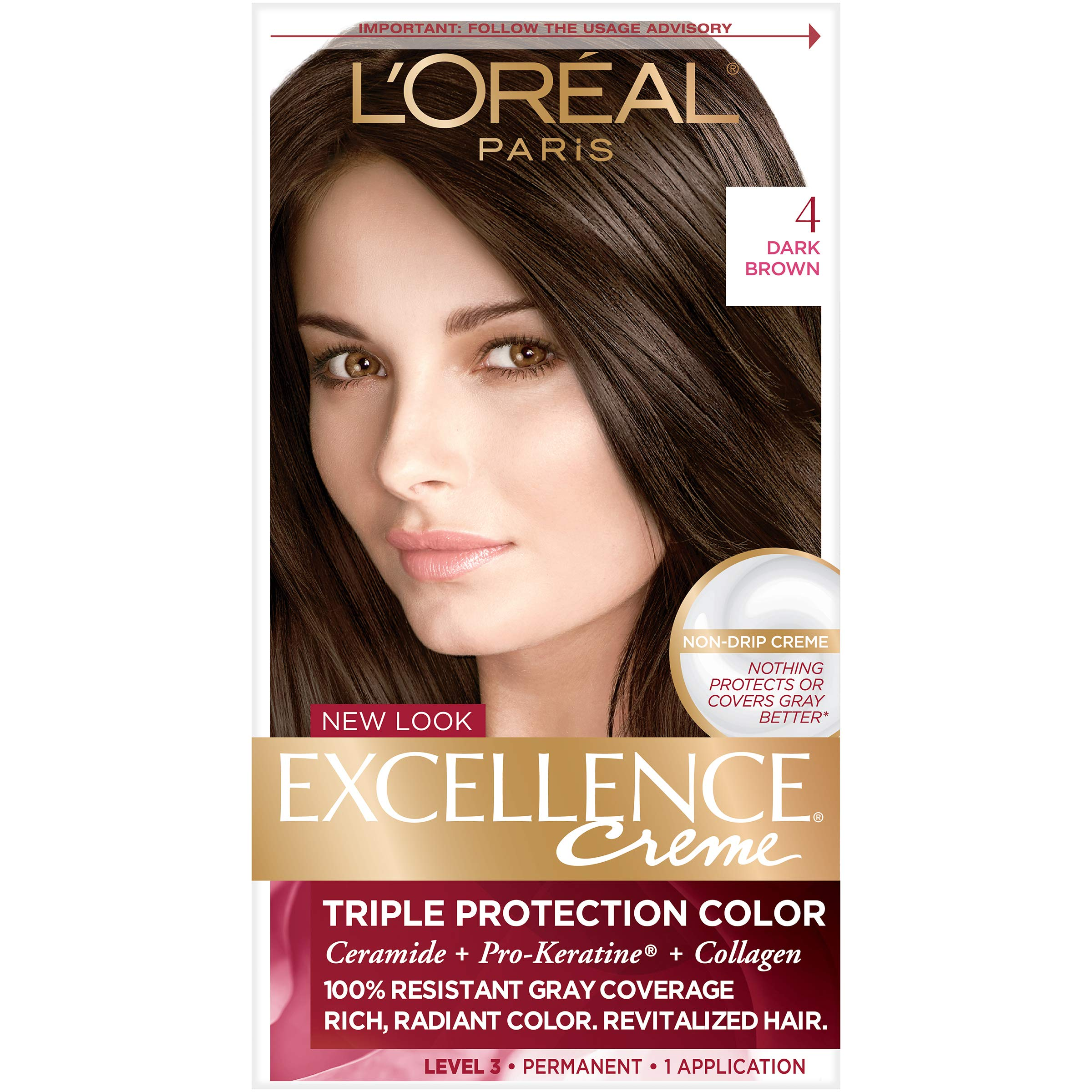 Amazon Loreal Paris Excellence Creme Hair Color 4 Dark Brown