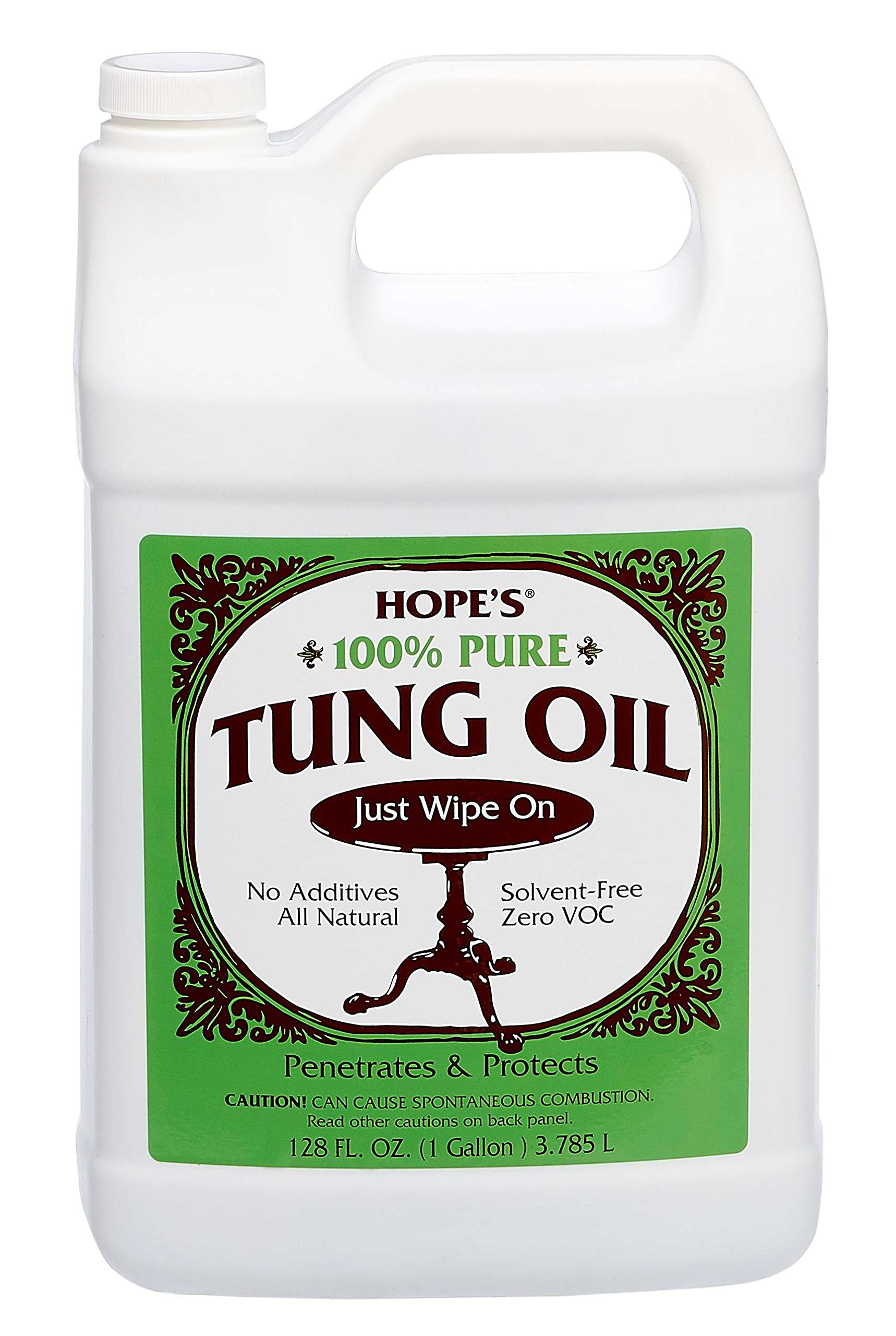 Hope Company 128to2 100% Pure Tung Oil - 1 Gallon by HOPE'S