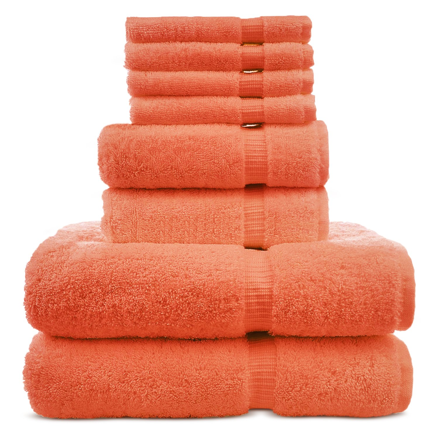 8 Piece Turkish Cotton Towel Set