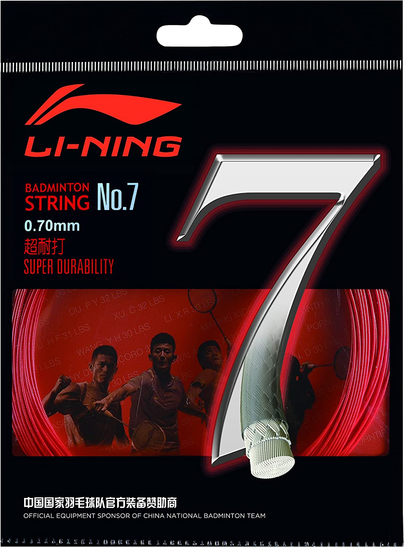 Li Ning Badminton Schl/äger-Saite No 7 Rot