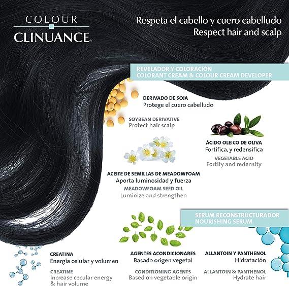 Colour Clinuance. Tinte Capilar Cabellos Delicados. 4.01 Chocolate Frío, Coloración Permanente Sin Amoniaco, Más Brillo, Color Intenso, 100% ...