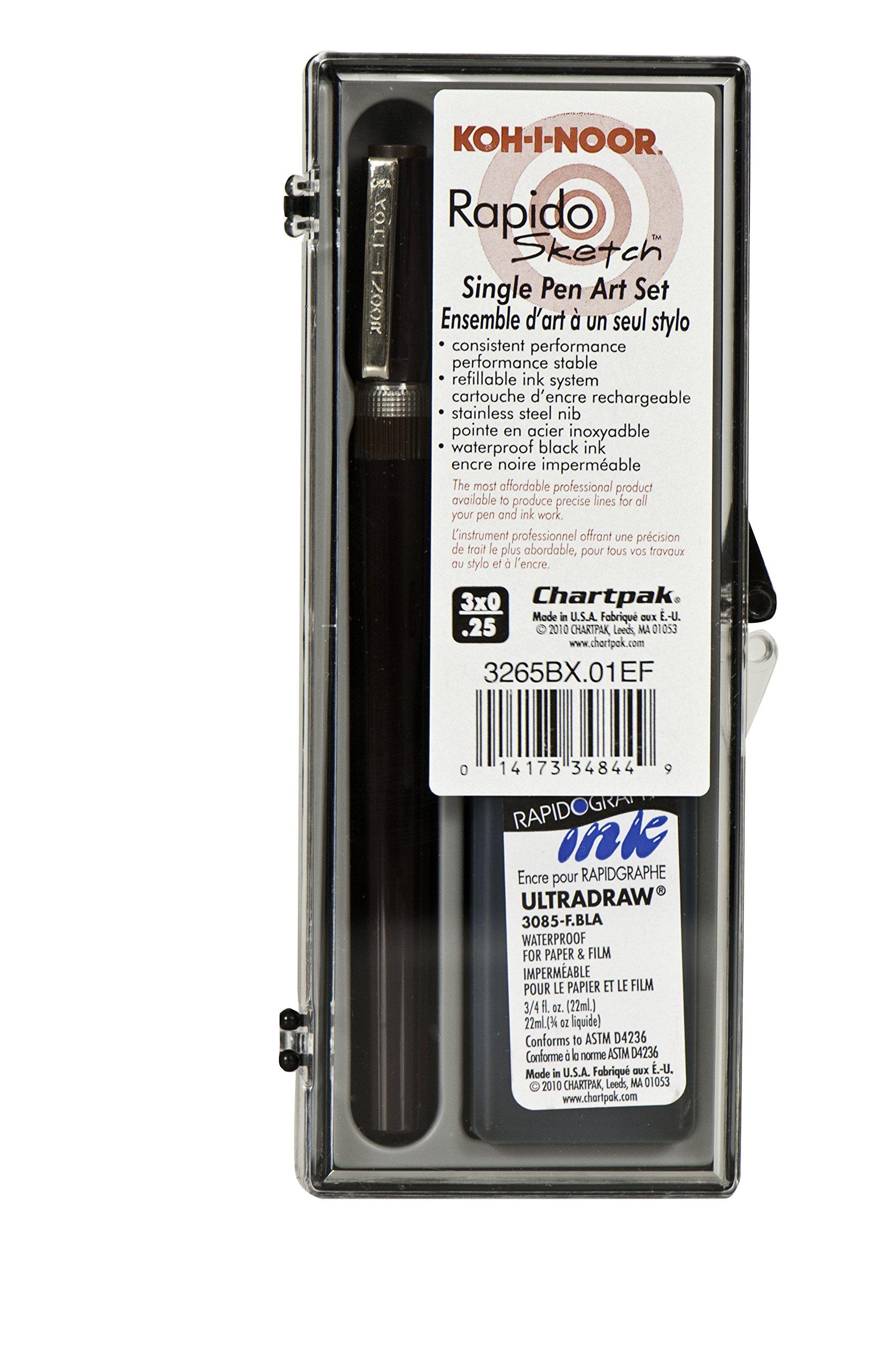 KOH-I-NOOR Rapidosketch Technical Pen Sets, 0.25 mm (3265BX.01EF) by Koh-I-Noor (Image #1)
