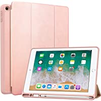 MoKo Case Fit 2018 iPad 9.7 6th Generation with Apple Pencil Holder - Slim Lightweight Smart Shell Stand Cover Case with…