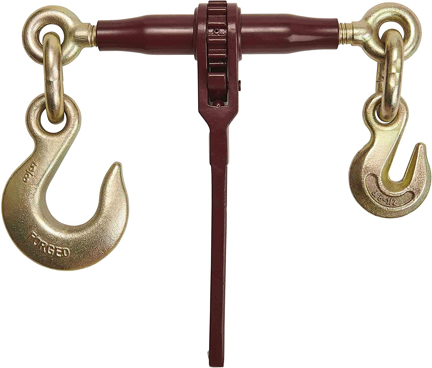 1//2 Grab Hook on One Side /& 1//2 Slip Hook on Other 12,000 Lbs Load Limit Chain Binders for Flatbed Truck Trailer Heavy Duty Specialty Pro Ratchet Load Chain Binder w// Grab Hook /& Slip Hook
