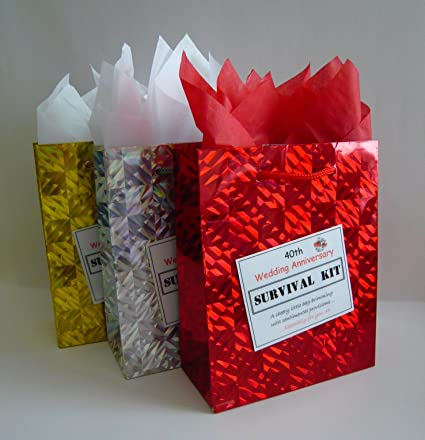 40th Ruby Wedding Anniversary Survival Kit Fun Gift Idea Novelty