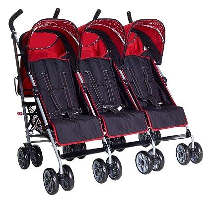 Kids Kargo Triple Silla de paseo Cochecito rojo Berry Red Talla:Triple citi elite