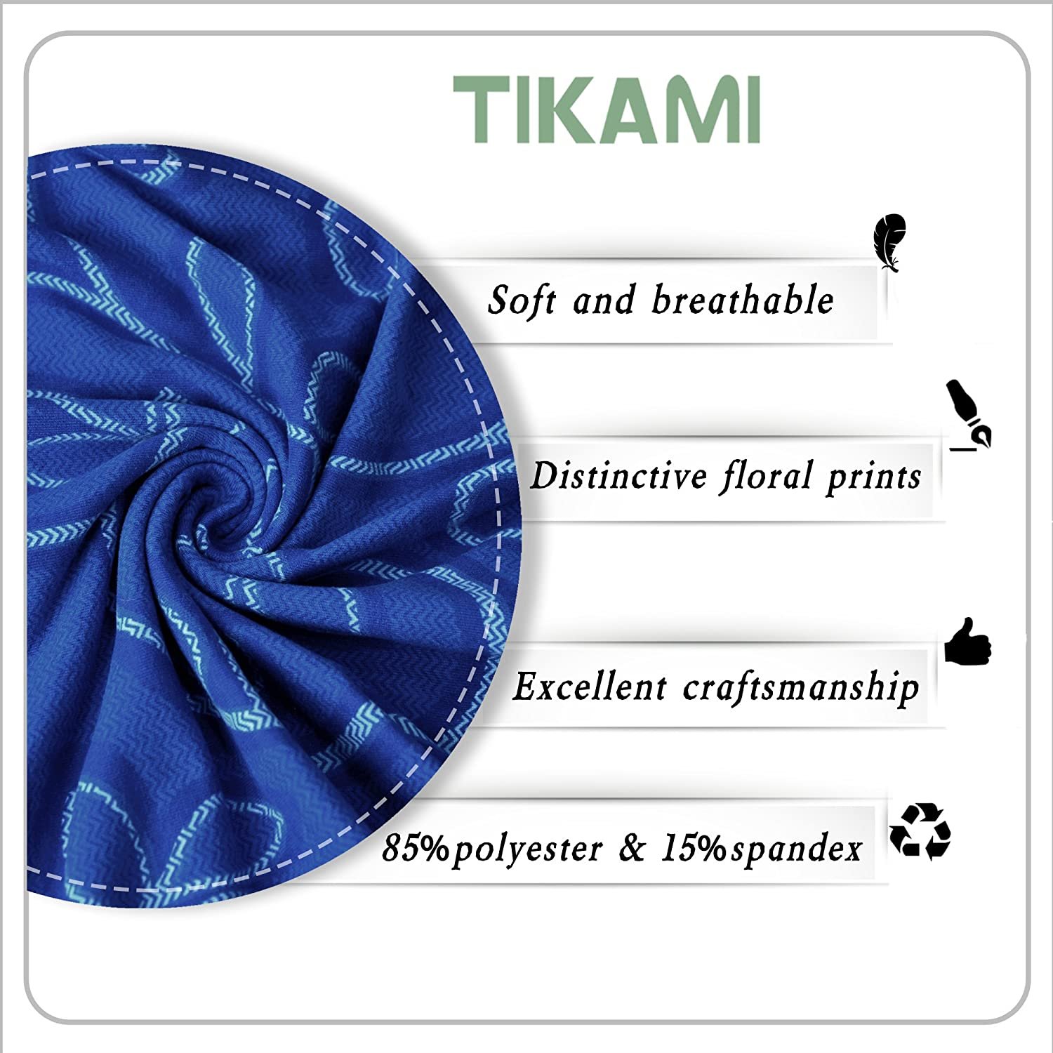 TIKAMI Printed Dinning Chair Covers Spandex Stretch Dinning Room Chair Slipcovers for Valentines Day Amaranth, 1PCS