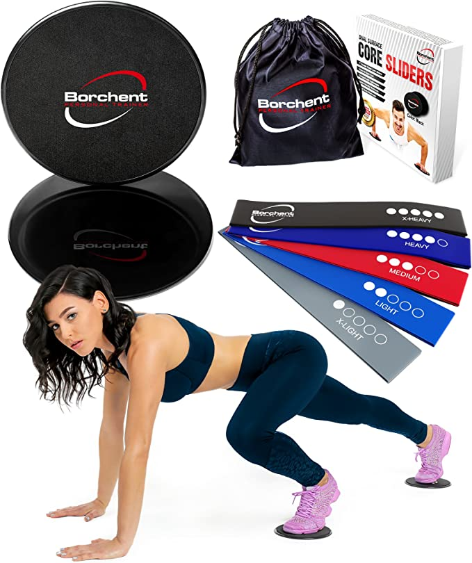 Gliding Discs Core Sliders Exercise Strength Stability Abdominal Glutes Slides