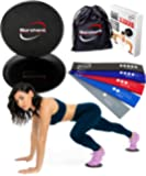 Borchent Core Sliders 5 Resistance Bands Fitness Equipment Home Intense, Low-Impact Exercises to Strengthen Core, Glutes Abs