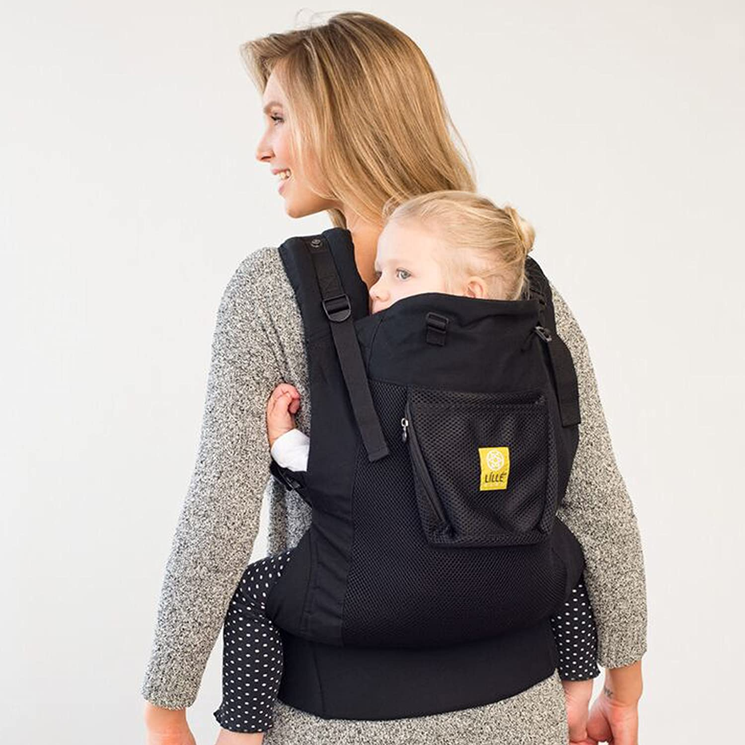 LILLEbaby 3 in 1 CarryOn Toddler Carrier - Air - Charcoal Berry CO-4A-104B-N